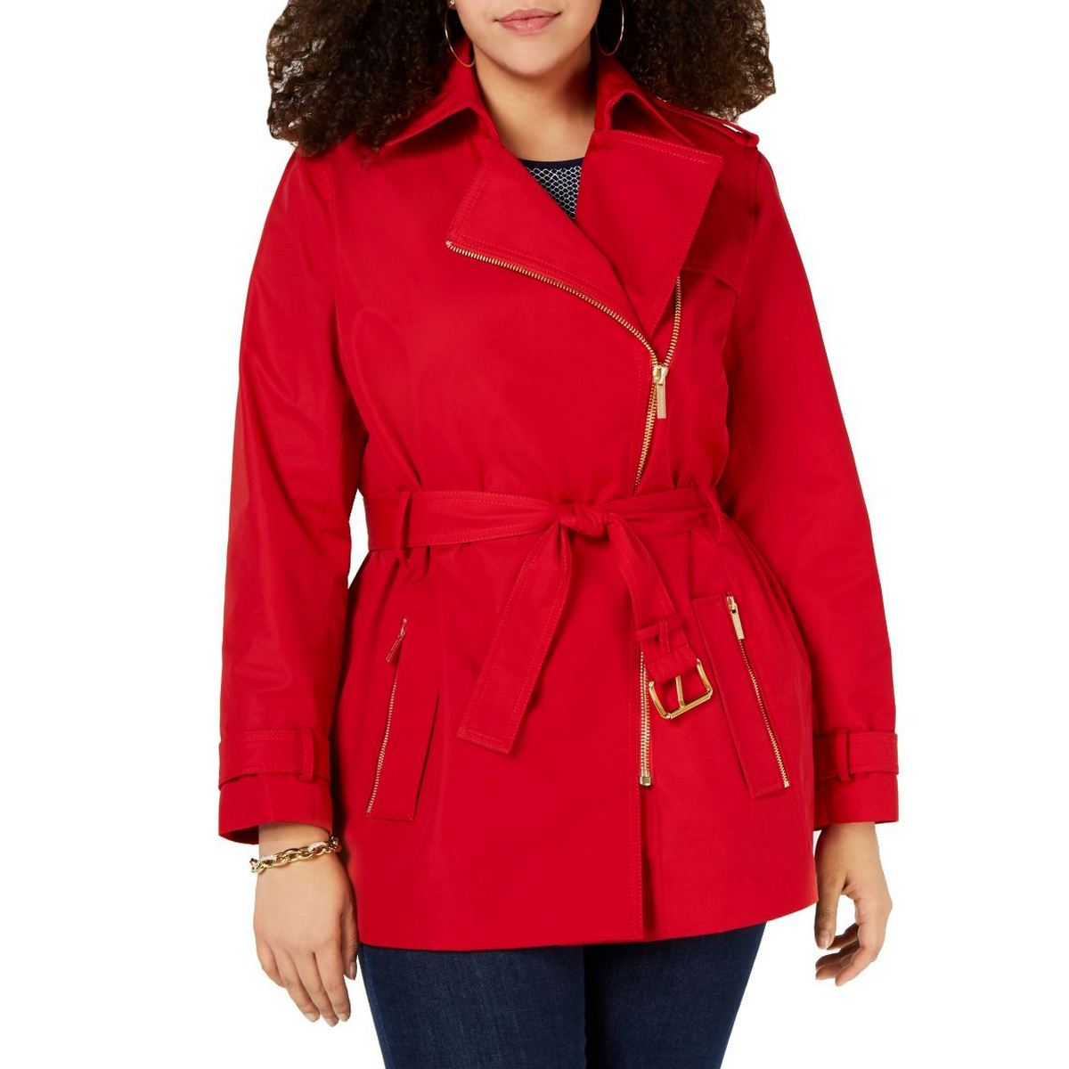TOMMY HILFIGER NEW Women/'s Scarlet Button-detail Military Jacket Top TEDO